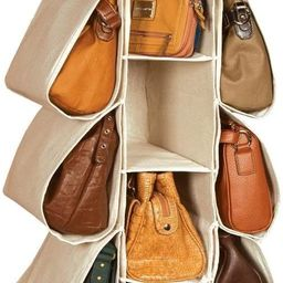 LONGTEAM Hanging Purse Handbag Organizer Homewares Nonwoven 10 Pockets Hanging Closet Storage Bag | Amazon (US)