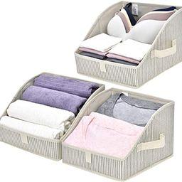 GRANNY SAYS Open Storage Bins, Trapezoid Closet Organizer with Handles, Fabric Storage Baskets fo... | Amazon (US)
