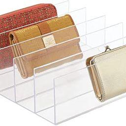 mDesign Plastic Divided Purse Organizer for Closets, Bedrooms, Dressers - Closet Shelf Storage So... | Amazon (US)