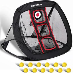 Champkey PRO Golf Chipping Net with Hitting Mat and 12 Foam Balls | Improves All Chipping Skill L... | Amazon (CA)