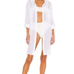Seafolly Crinkle Twill Beach Tunic in White from Revolve.com   Revolve Clothing (Global)