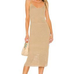 Line & Dot Isabel Crochet Dress in Sand from Revolve.com   Revolve Clothing (Global)