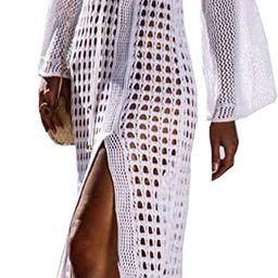 Wander Agio Beach Tops Sexy Floral Cover Dresses Bikini Cover-ups Net Long Skirt   Amazon (US)