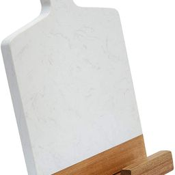 TENDER COTTAGE Marble Acacia Wood Cutting Board - CookBook Holder Adapter - Charcuterie Board - G... | Amazon (US)