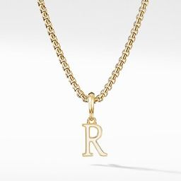 Cable Collectibles® White Enamel Initial Charm with 18K Yellow Gold | David Yurman
