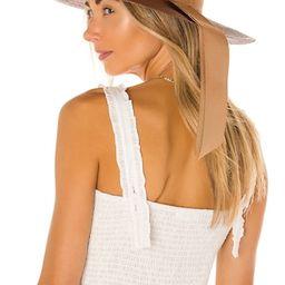 SENSI STUDIO Cordovez Long Brim Hat in Chocolate & Sable from Revolve.com | Revolve Clothing (Global)