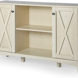 LYNSLIMConsole Table with Storage - White Accent Storage Cabinet with Doors for Entryway Living... | Amazon (US)