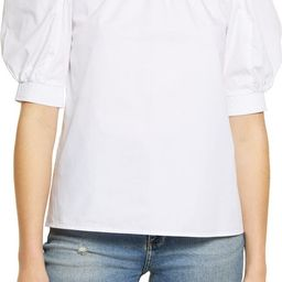 Cotton Puff Sleeve Top   Nordstrom