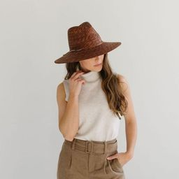 Isla Straw Fedora - Brown | Gigi Pip