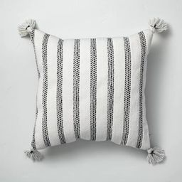 Vertical Texture Stripes Indoor/Outdoor Throw Pillow Black/White - Hearth & Hand™ with Magnolia | Target