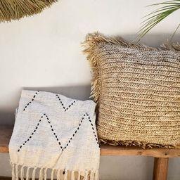 Raffia pillow cover, seagrass bohemian throw pillow cover, handmade accent jute pillow | Etsy (AU)
