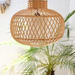 MENTAWAI LAMPSHADE - Rattan lamp shade -Wicker lamp-Rustic pendant light-Natural rattan chandelie... | Etsy (AU)