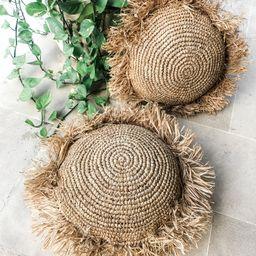 Raffia Fringed Round Cushion Cover,  Boho Pillowcase, Living Room Decor, Straw Pillowcase, Decora... | Etsy (AU)