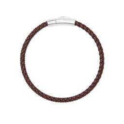 Evans Sterling Silver Corded Bracelet in Brown Leather | Kendra Scott