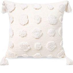 PLWORLD Boho White Throw Pillow Cover 18x18 Inch with Tassels, Pom Pom Tufted Decorative Cream Ch...   Amazon (US)