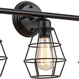 KOONTING 3-Light Industrial Bathroom Vanity Light, Metal Wire Cage Wall Sconce, Vintage Edison Wa...   Amazon (US)