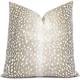 JeanLowell Antelope Pillow Cover Double Sided Canvas Throw Pillow with Zipper Square Eurosham or ...   Amazon (US)