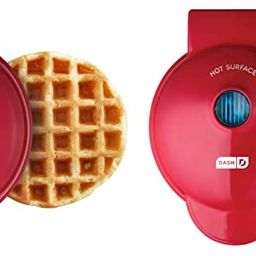 Dash DMSW002RD Mini Maker, 2-Pack Griddle + Waffle Iron, 2 pack, Red   Amazon (US)