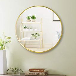 "Beauty4U 20"" Wall Circle Mirror Large Round Gold Farmhouse Circular Mirror for Wall Decor Big Bat...   Amazon (US)"