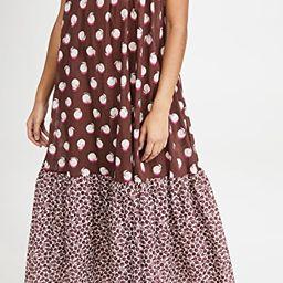 Ruched Oranges Print Long Dress   Shopbop