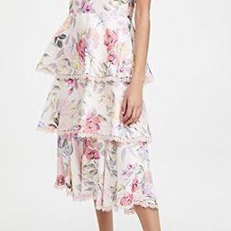 Printed Sleeveless Midi Dress   Shopbop