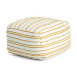 20x20 Indoor Outdoor Striped Pouf | TJ Maxx