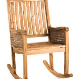 Indoor Outdoor Acacia Rocking Chair | TJ Maxx