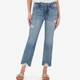 Kelsey High Rise Ankle Flare (Method Wash) | Kut From Kloth
