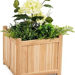 Giantex Raised Garden Bed, Wood Planter for Vegetable Flower, Outdoor Elevated Planting Boxes, Fo...   Amazon (US)