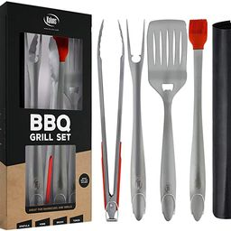Kaluns Grill Set, Heavy Duty Thick Stainless Steel Grilling Utensils 5 Piece Grilling Set, Tong, ... | Amazon (US)