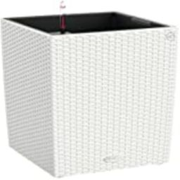 Lechuza 15390 Cube Cottage 50 Self-Watering Garden Planter for Indoor and Outdoor Use, White Wicker,   Amazon (US)
