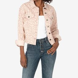 Kara Crop Jacket (Animal Print) | Kut From Kloth