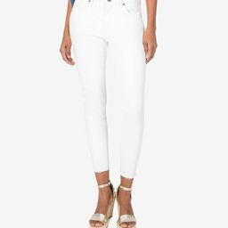 Donna High Rise Fab Ab Ankle Skinny (Optic White) | Kut From Kloth