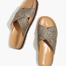 The Dayna Lugsole Slide Sandal in Spotted Calf Hair | Madewell