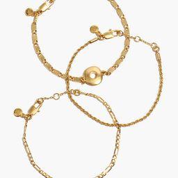 Three-Pack Circlet Chain Bracelet Set | Madewell