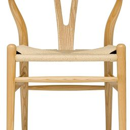 Hans Wegner Wishbone Style Woven Seat Chair (Ash with Natural Cord)   Amazon (US)
