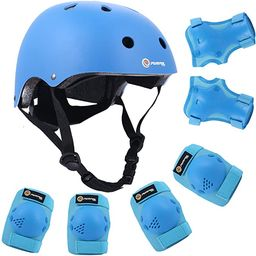 Purpol Kids Bike Helmet, Toddler Helmet for Ages 3-8 Boys Girls with Sports Protective Gear Set K...   Amazon (US)