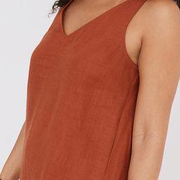Linen-Blend V-Neck Tank Dress | Madewell