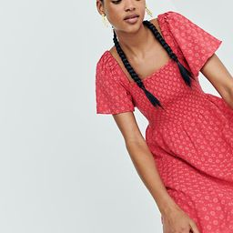 Eyelet Lucie Smocked Mini Dress | Madewell