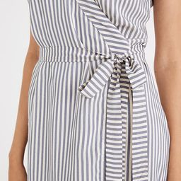 Striped Cap-Sleeve Wrap Dress | Madewell