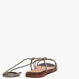 The Katya Lace-Up Sandal   Madewell