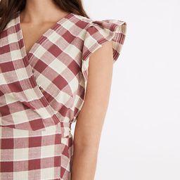 Gingham Ruffled Wrap Mini Dress | Madewell