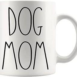 Dog Mom Coffee Mug - Dog Mom Rae Dunn Inspired Coffee Mug - Text Rae Dunn Style Coffee Mug - Birt... | Amazon (US)
