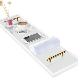 ToiletTree Frosted Acrylic Bathtub Caddy with Rust-Proof Gold Finished Handles   Amazon (US)