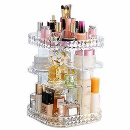 Makeup Organizer 360-Degree Rotating Cosmetic Storage Box, DIY Adjustable Large Capacity Cosmetic...   Amazon (US)