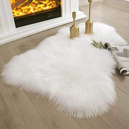Ashler Ultra Soft Faux Sheepskin Fur Rug White Fluffy Area Rug Shag Rug Carpets for Bedroom Livin...   Amazon (US)
