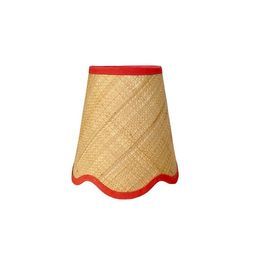 Scalloped Tan Raffia sconce shade With Your Choice of Trim Color - Made to Order   Etsy (CAD)