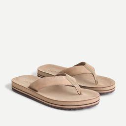 Leather flip-flops   J.Crew US
