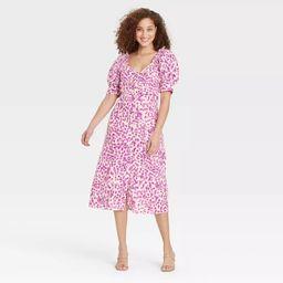 Women's Puff Short Sleeve Empire Waist Dress - Who What Wear™ | Target