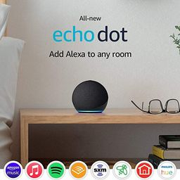 All-new Echo Dot (4th Gen, 2020 release)   Smart speaker with Alexa   Charcoal   Amazon (US)